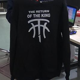 Црни џемпер узорак за штампу помоћу А2 мајице штампача ВЕР-Д4880Т